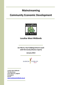 community economic development report