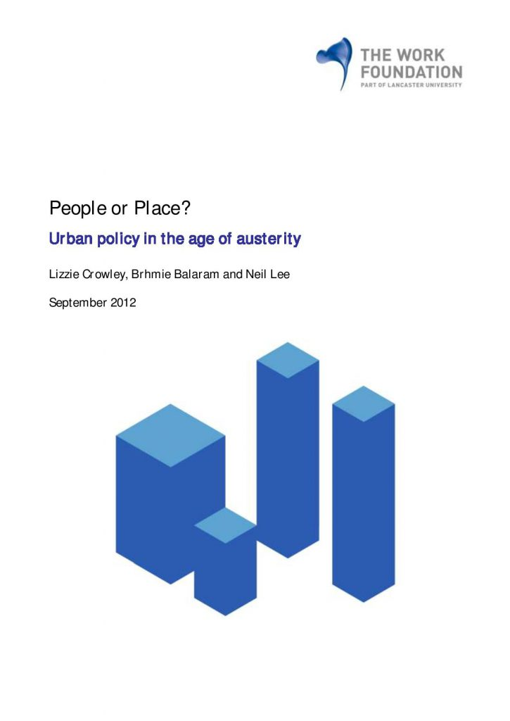 Urban Policy in the age of austerity